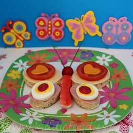Open-Face Butterfly Sandwich