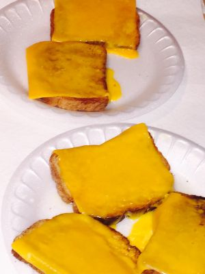Faith's cheesy breakfast toast