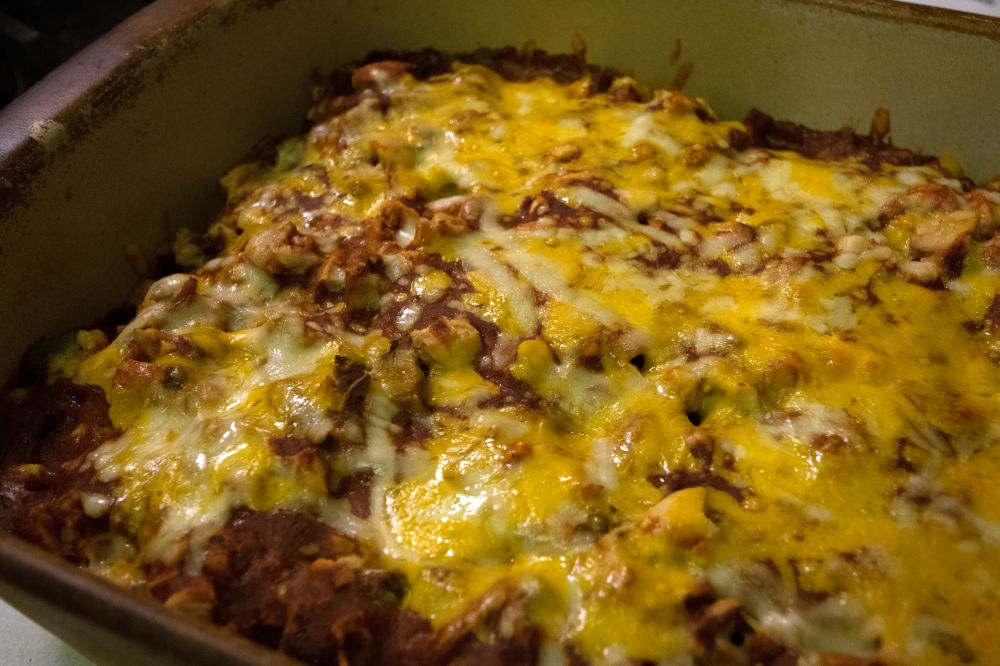 Chicken & Rice Enchilada Casserole