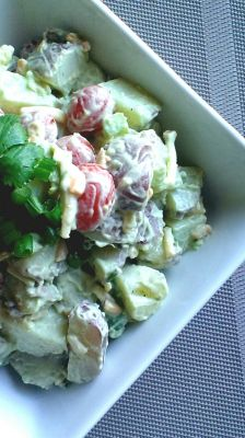 Cheesy Avocado Ranch Potato Salad