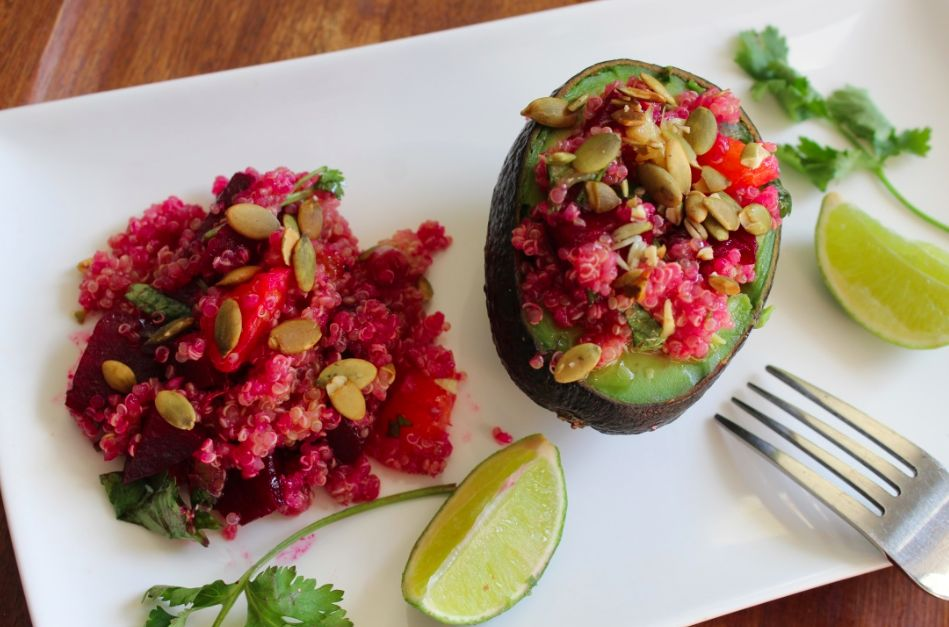 Quinoa-Beet-Avocado Salad