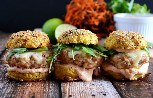 Chipotle Chicken and Andouille Sausage Sliders
