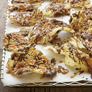 Chocolate Caramel Pecan Potato Chips