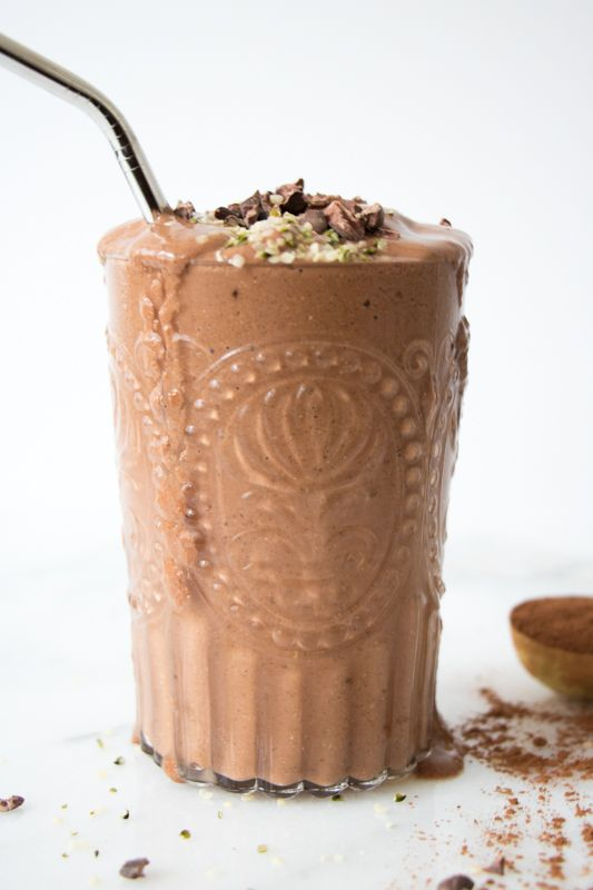 Helado/smoothie de chocolate