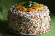 Angel Food Coconut Cream Cake
