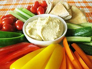 VEGETABLE AND DIP PLATTER