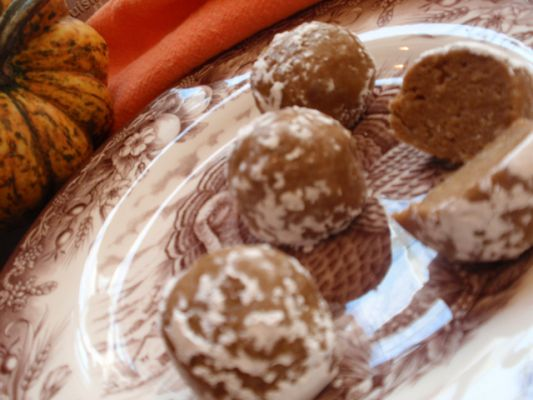Allergy Free Vintage Cookery's Gluten Free Autumn Spiced Truffle Bites