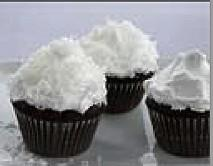 Cupcake Coconut Surprise With Coconut Cream Cheese Frosting