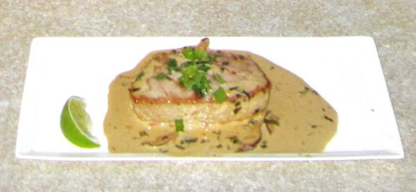 Seared Tuna with Ginger-Shiitake Cream Sauce