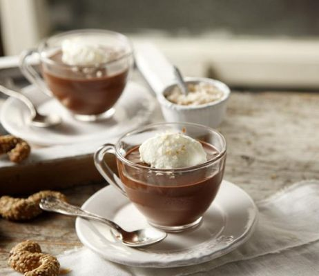 Chocolate mousse with olive oil