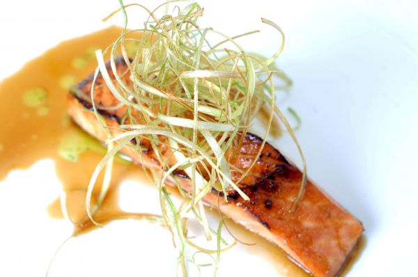 The Inbal Hotel's Salmon Fillet with Date, Honey & Orange Glaze
