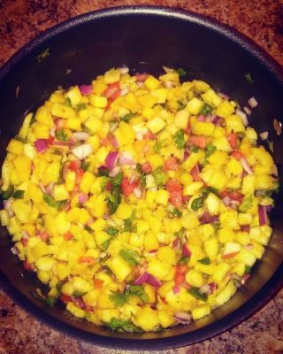 Sweet and Spicy Pineapple Salsa