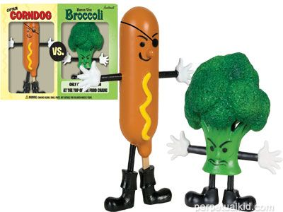CAPTAIN CORNDOG VS BARON VON BROCCOLI: http://www.perpetualkid.com/index.asp?PageAction=VIEWPROD&ProdID=3361&dc=bake