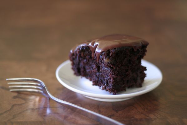 Chocolate-Zucchini Cake with Fudge Frosting