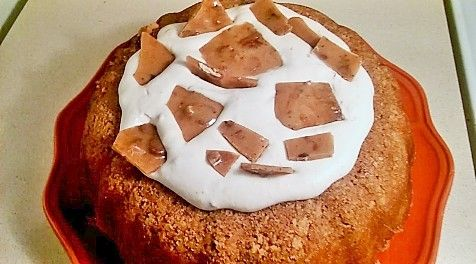 Grandma's Peanut Brittle Bundt Cake With Salted Honey Whipped Cream