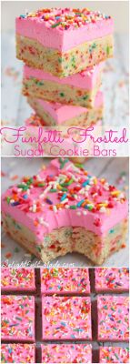 Funfetti Frosted Sugar Cookie Bars