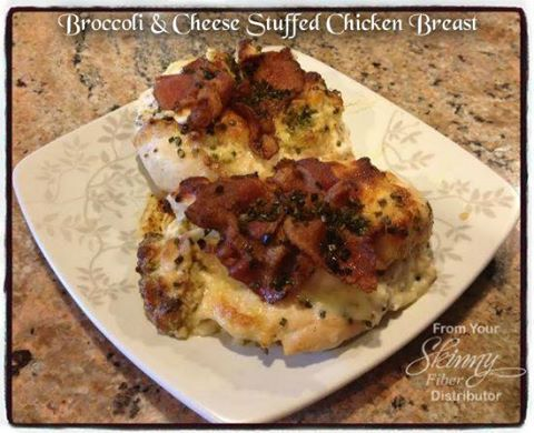Broccoli and Cheese Stuffed Chicken Breast