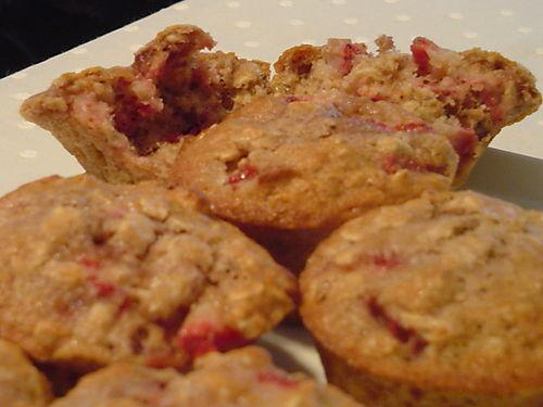 Strawberry Nut Oat Muffins