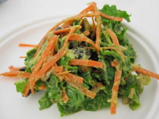 perfect salad green: Kale Avocado Salad