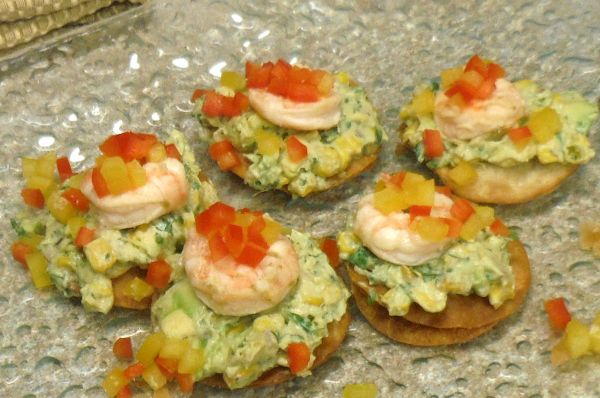 Shrimp Nachos with Avocado-Corn Relish