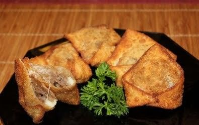Cheesy Steak Won Tons