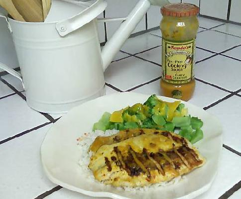 Tilapia Grilled With Coconut Curry Sauce (about $3 Per Serving)
