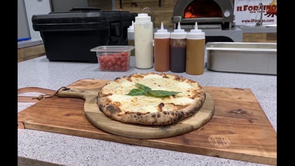 How to make Pizza Blanca in Wood Fired Pizza Oven - White Pizza Recipe  Posted by ilFornino New York on 9th Jan 2020  Cook a White Pizza - Pizza Blanca Recipe in your Wood Fired Pizza Oven by ilFornino