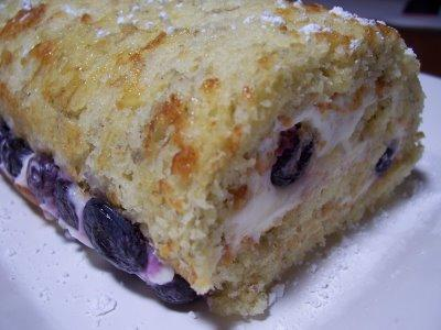 Banana Roll With Blueberry Lemon Cream Cheese Filling