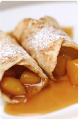 Cinnamon Sugar Tortilla's with Caramelized Mangoes