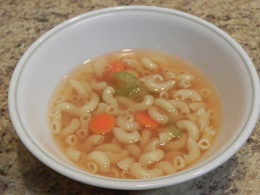 Elbows and Broth aka 'I Don't Feel Good' Soup