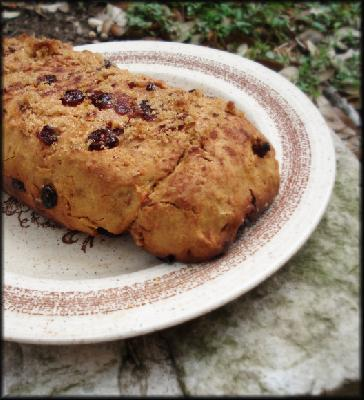 Sweet Potato Walnut and Cranberry Loaf