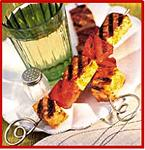 Grilled Watermelon and Halibut Skewers