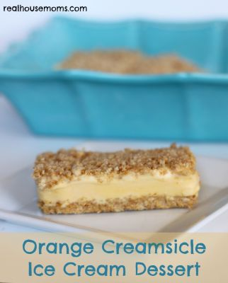 Orange Creamsicle Ice Cream Dessert