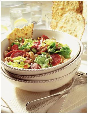 BEET & BEAN SALAD WITH WARM BASIL-BACON DRESSING