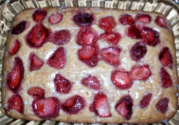 Strawberry Banana Nut Cake