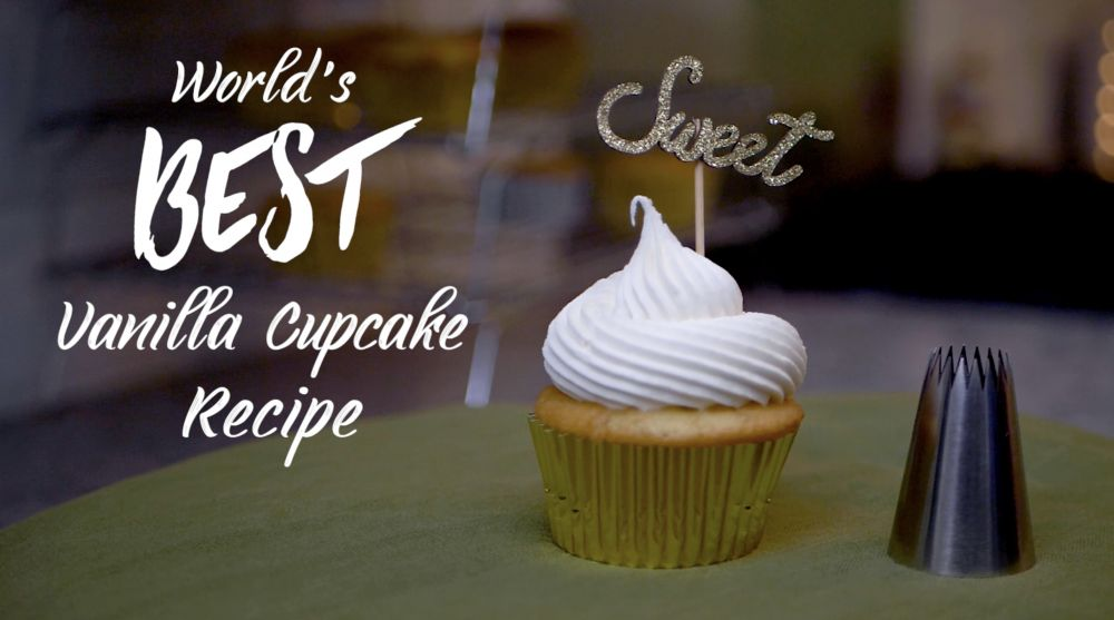World's Best Vanilla Cupcake Recipe