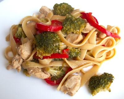 Sauteed Chicken And Broccoli Over Pasta