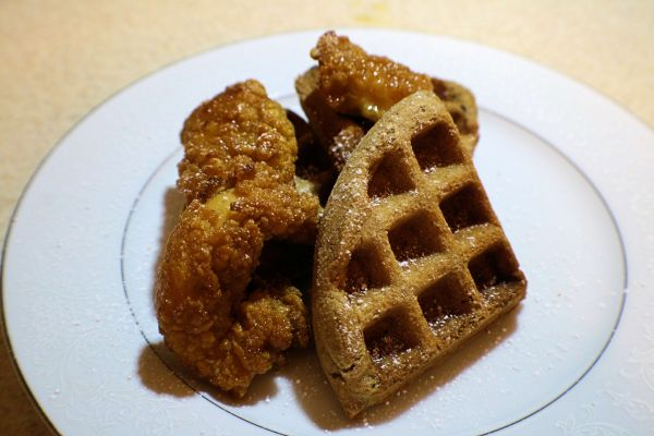 Chicken and Chocolate Waffles
