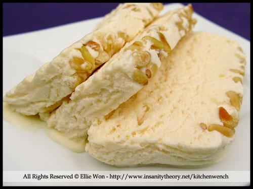 Honey and Pine Nut Semifreddo