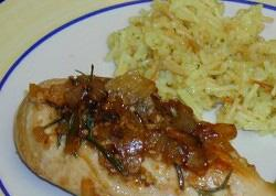 Chicken Breasts with Rosemary and Onions