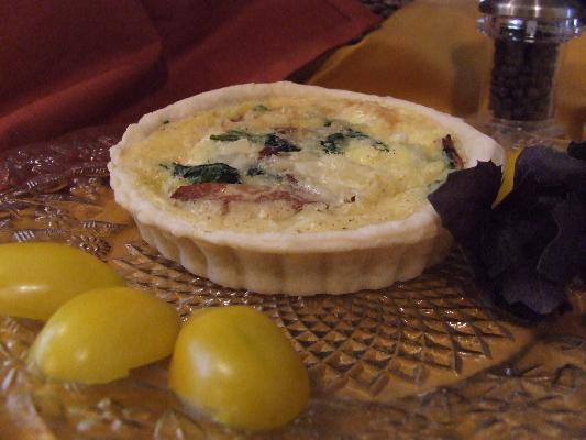 Facon & Spinach Quiche