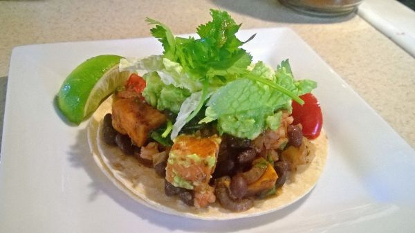Sweet Potato and Black Bean Vegan Fajitas