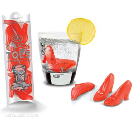 Tipsy Toes High Heel Ice Cubes - http://www.perpetualkid.com/index.asp?PageAction=VIEWPROD&ProdID=3338&dc=bake