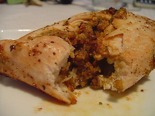Sage and Sundried Tomato Pesto Stuffed Chicken Breasts