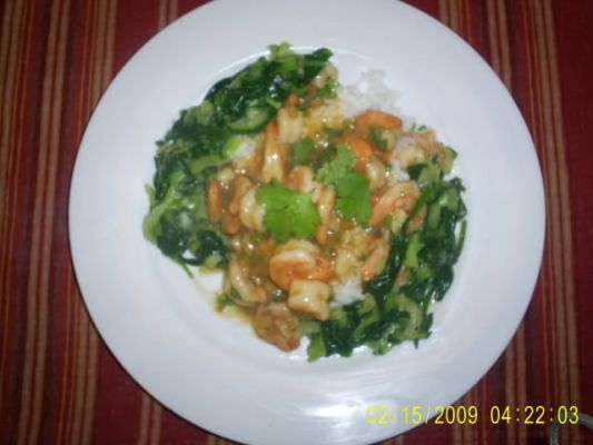 Shrimp with Garlic & Chile Sauce