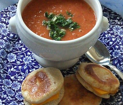 Creamy Tomato Soup with Basil Coulis