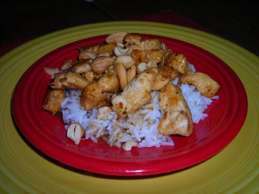 Cashew Lime Chicken With Rice