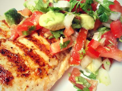 Cilantro Lime Chicken with Avocado Salsa