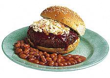 Barbecued Slaw Burgers