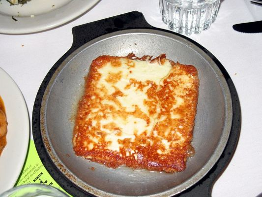 Saganaki (Flaming Cheese)
